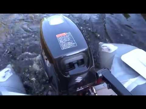 обкатка новых лодочных моторов сузуки