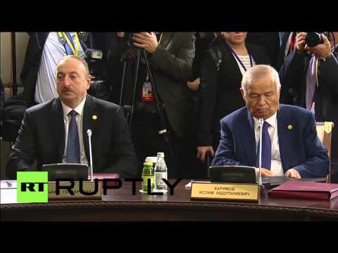 Kazakhstan: Nazarbayev presides over CIS round-table meeting