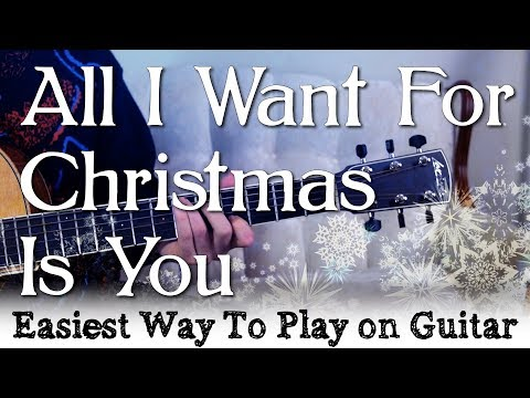 'All I Want For Christmas Is You' Easy Guitar Tutorial | Mariah Carey - Easiest way to play