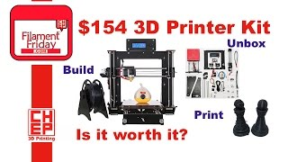 $154 CTC 3D Printer Kit from eBay, Unboxing, Assembly and Test