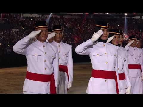Indonesia Anthem  Tulus  Asian Games 2018 FULL HD