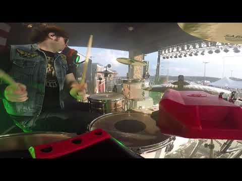 "Jason Hartless w/ Ted Nugent ""Fred Bear"" (Drum Solo) Drum Cam in Westover, WV"