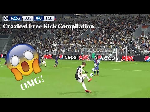 PES 2018 Craziest Free Kick Compilation You Will Ever Watch