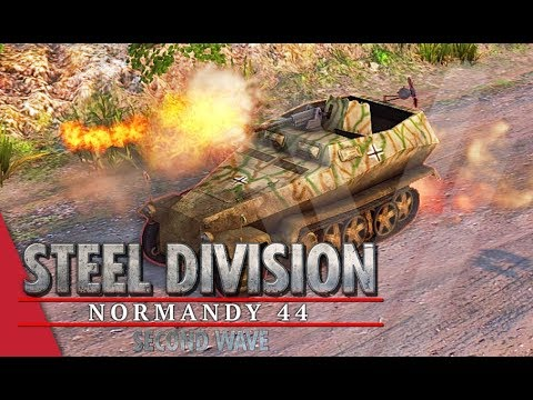 Mechanized Warfare! Steel Division: Normandy 44 Gameplay (Omaha, 3v3)