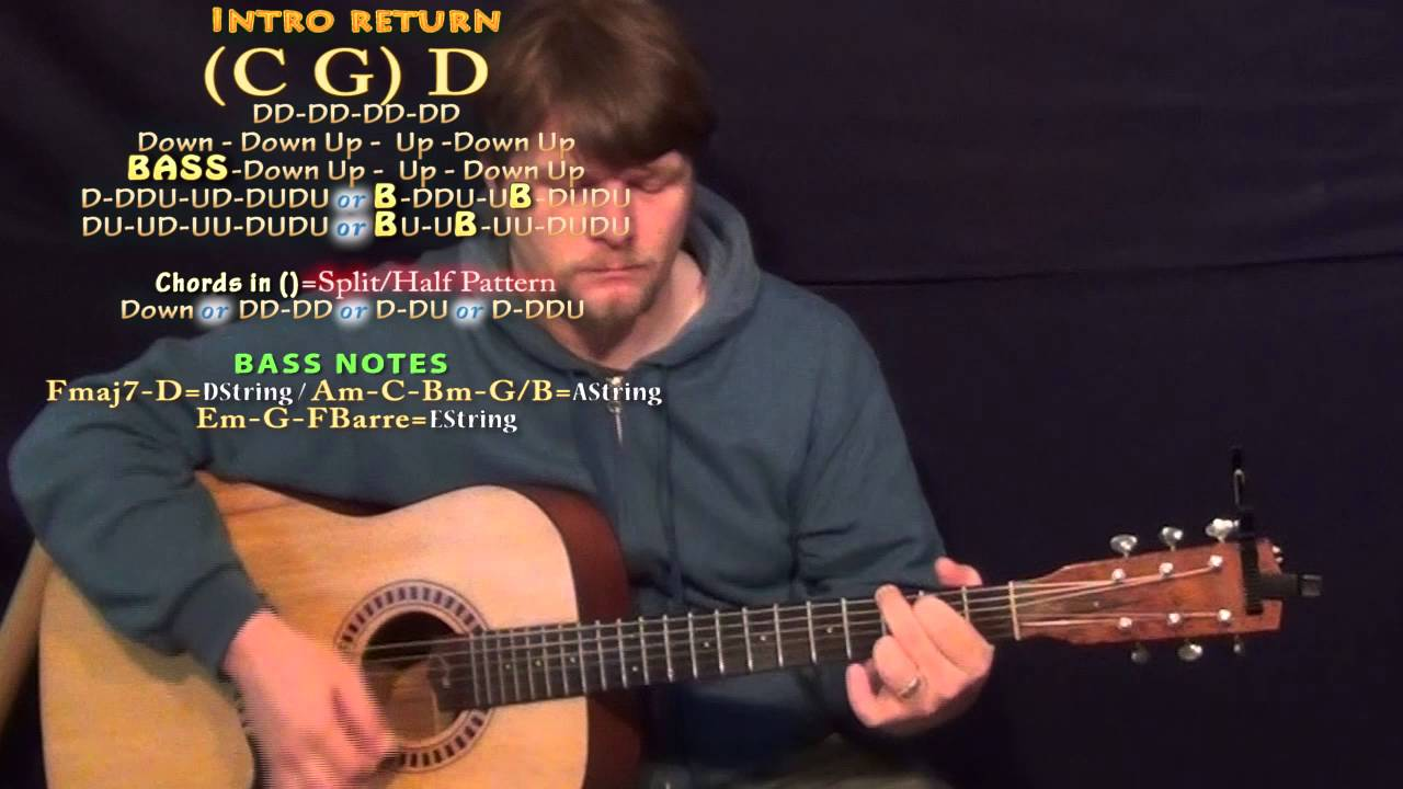 You Should Be Here (Cole Swindell) Guitar Lesson Chord Chart