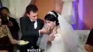 Жених ударил невесту во время свадьбы