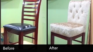 HOW TO REUPHOLSTER A BAR STOOL WITH A REMOVABLE SEAT - ALO Upholstery