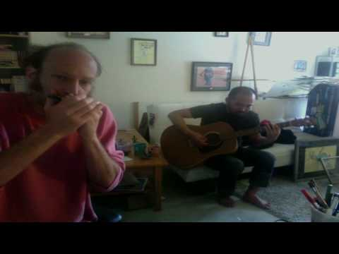 Blues Harmonica and guitar Jam with my friend Polo (Key of G)