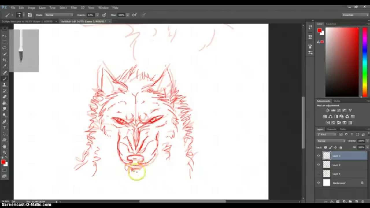 how to draw a angry wolf