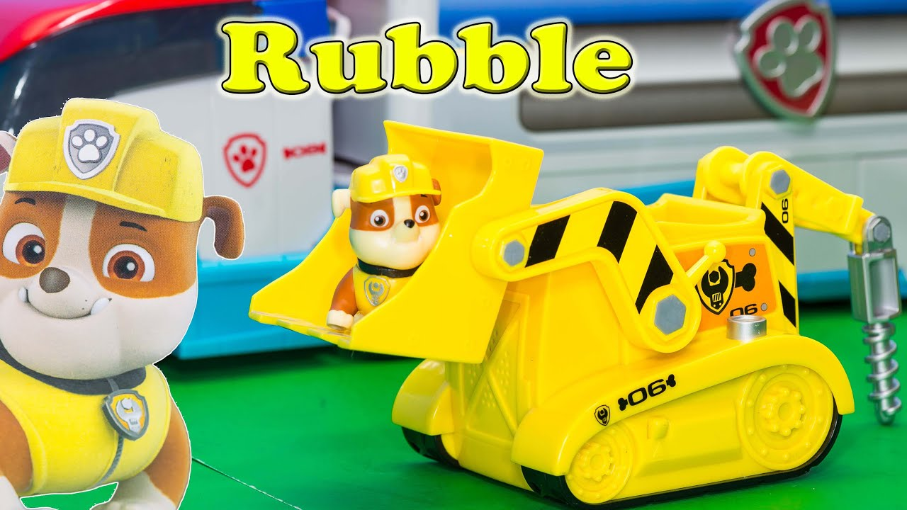 Unboxing The Paw Patrol Rubble Light And Sounds Vehicle