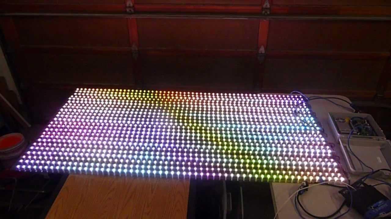 pixel rgb led screen youtube