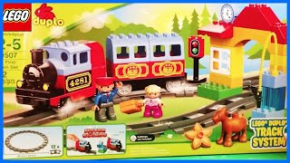 LEGO DUPLO 10507 My First Train Set 10506 Accessory Set Track System toy review