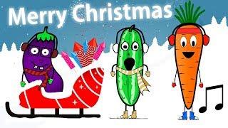 Nauka warzyw dla dzieci - We Wish You A Merry Christmas   CzyWieszJak