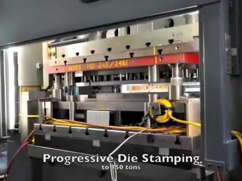 Progressive die stamping by Scandic (California, USA)