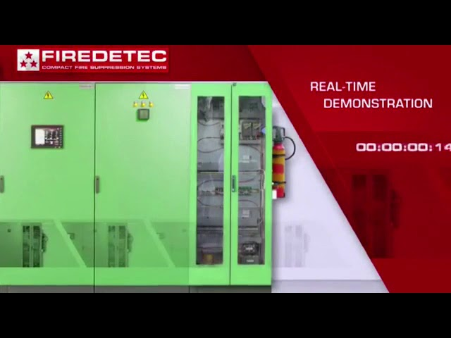 zurith safety services : FireDetec electrical cabinet extinguisher demo