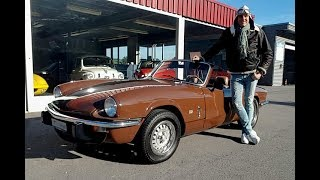 Triumph Spitfire 1500 Driving With Gloves