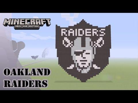 Minecraft: Pixel Art Tutorial and Showcase: Oakland Raiders Logo (NFL)