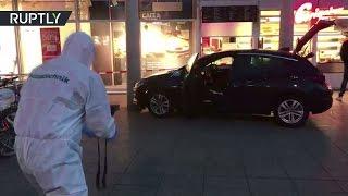 Видео с места наезда водителя на пешеходов в Гейдельберге