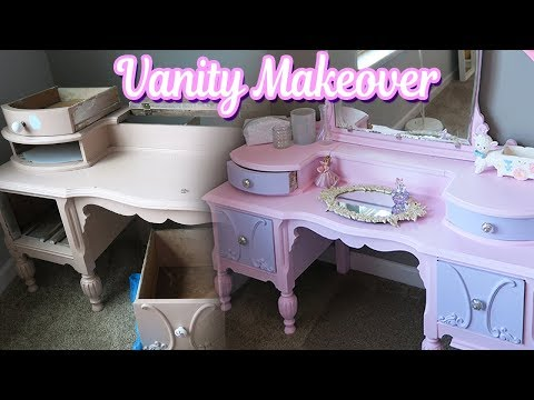 DIY Vintage Pink Vanity Makeover - Under $100!