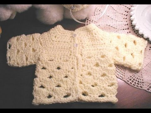 Crochet Stitches In Tamil : Abigail Baby sweater crochet in Tamil & English - video 1