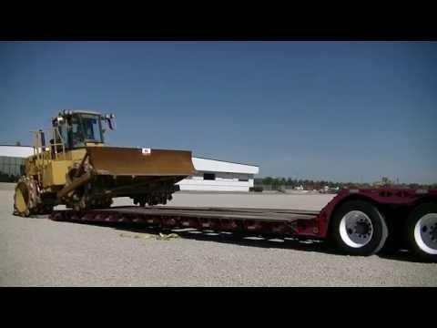 10 9 2014 Loading Caterpillar 815F Compactor Morris Illinois