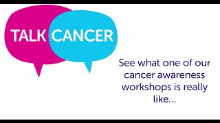 Talk cancer training equips and empowers front-line health staff to raise awareness of in their area. this is a research uk video. if you're in...