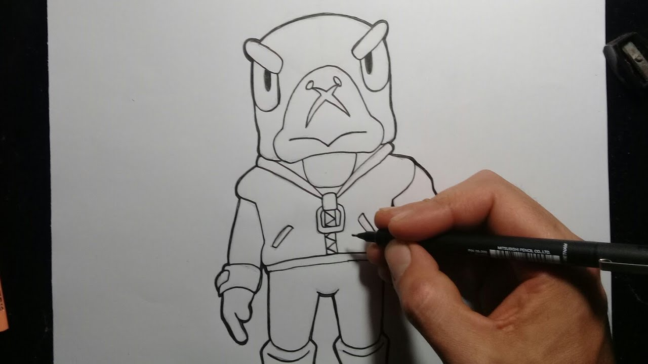Tutorial Como Desenhar O Crow Do Brawl Stars Youtube