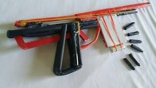 Как сделать пистолет, который стреляет пулями | бумага пушки