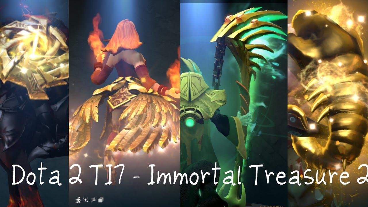 Dota 2 Ti7 Immortal Treasure I 2017 Chest Opening With: Opening Treasure II , Necromancer Sullen Harvest Ultra