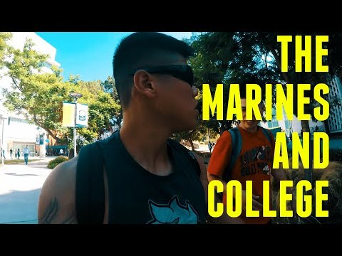 Doing College and the Marines Day In the Life  Vlog#1
