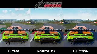 Assetto Corsa Competizione - Low, Medium , Ultra - Comparative