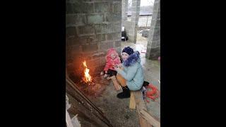 Стройка дома своими руками.Живём в бетоне без отопления и воды.Живем без ремонта.