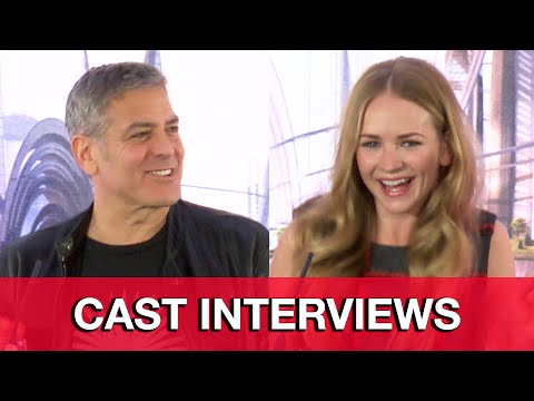 Tomorrowland Cast Interviews - George Clooney, Britt Robertson, Raffey Cassidy, Brad Bird