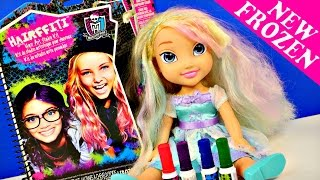 Frozen Hairffiti Monster High Color Hair Art Studio Elsa Styling Doll By Disney Cars Toy Club