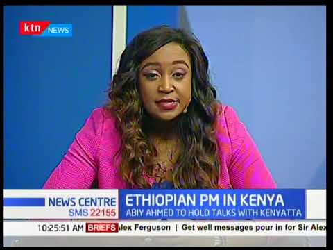 President Uhuru Kenyatta welcomes the Ethiopian PM Abiy Ahmed