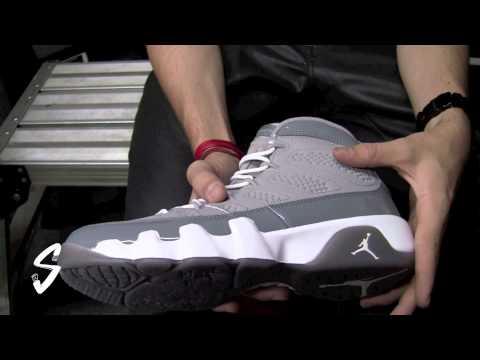 best sneakers 6f600 551a1 Air Jordan 9 Cool Grey On Feet