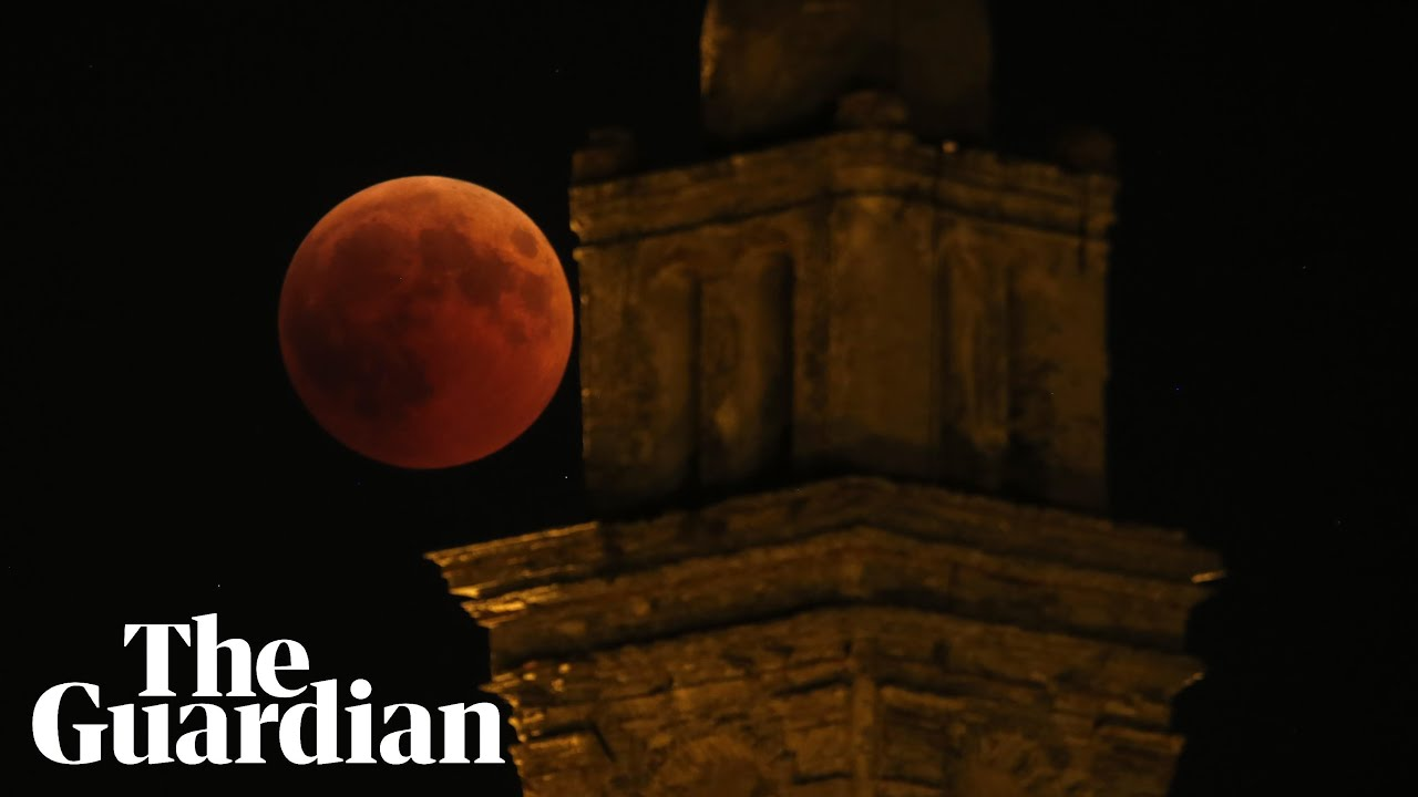 Nasa captures historic eclipse and blood moon from all over the world