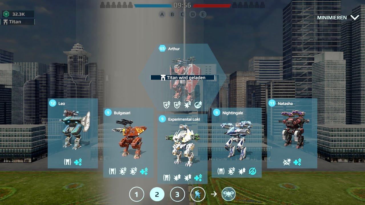 War Robots: Natasha, Leo, Nightingale, bulgasari, Arthur | Domination Gameplay