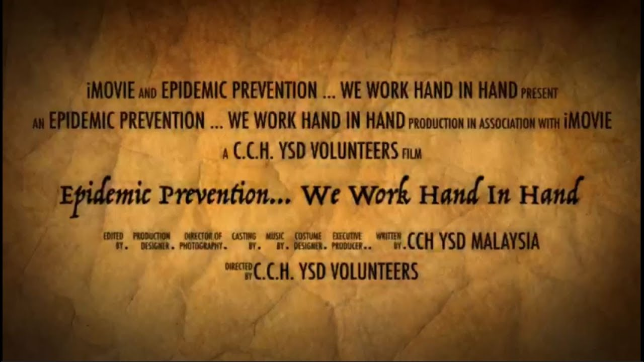 Epidemic Prevention... We Work Hand In Hand