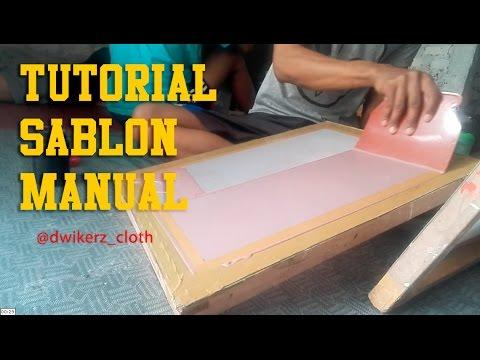 Tutorial Sablon Manual : Cara Mudah Membuat Film (Afdruk) Screen Sablon Manual - PART 1