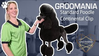 Standard Poodle Continental Clip with Lienke Luthart | Groomania 2020 Grooming Demonstration