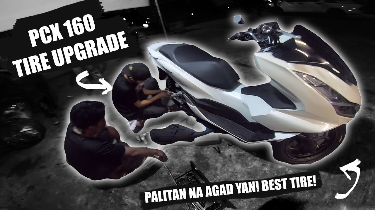 HONDA PCX 160 TIRE UPGRADE THE BEST TIRE FOR MOTORCYCLE    SOBRANG MAKAPIT