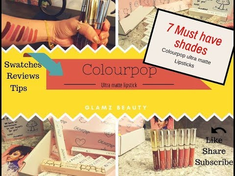 Colourpop Ultra Matte Liquid Lipsticks | LIP SWATCHES & Mini Review | Glamz beauty
