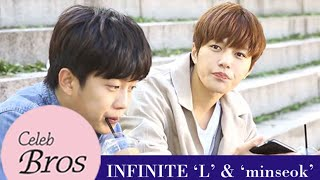 "Baixar INFINITE L & Minseok, Celeb Bros S6 EP1 ""Descedents of The Sun"""