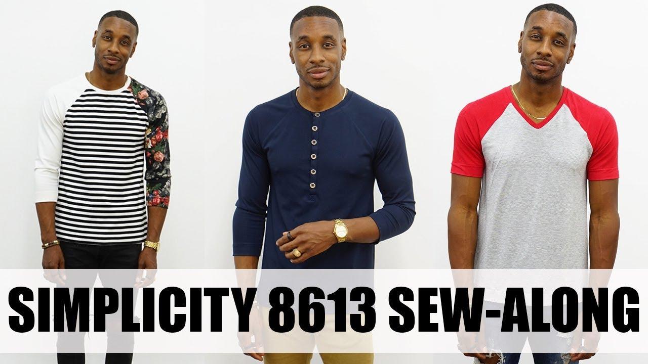 Sew along simplicity 8613 henley shirt youtube for Whats a henley shirt