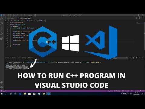 How to Run C++ in Visual Studio Code on Windows 10 2021 Best IDE
