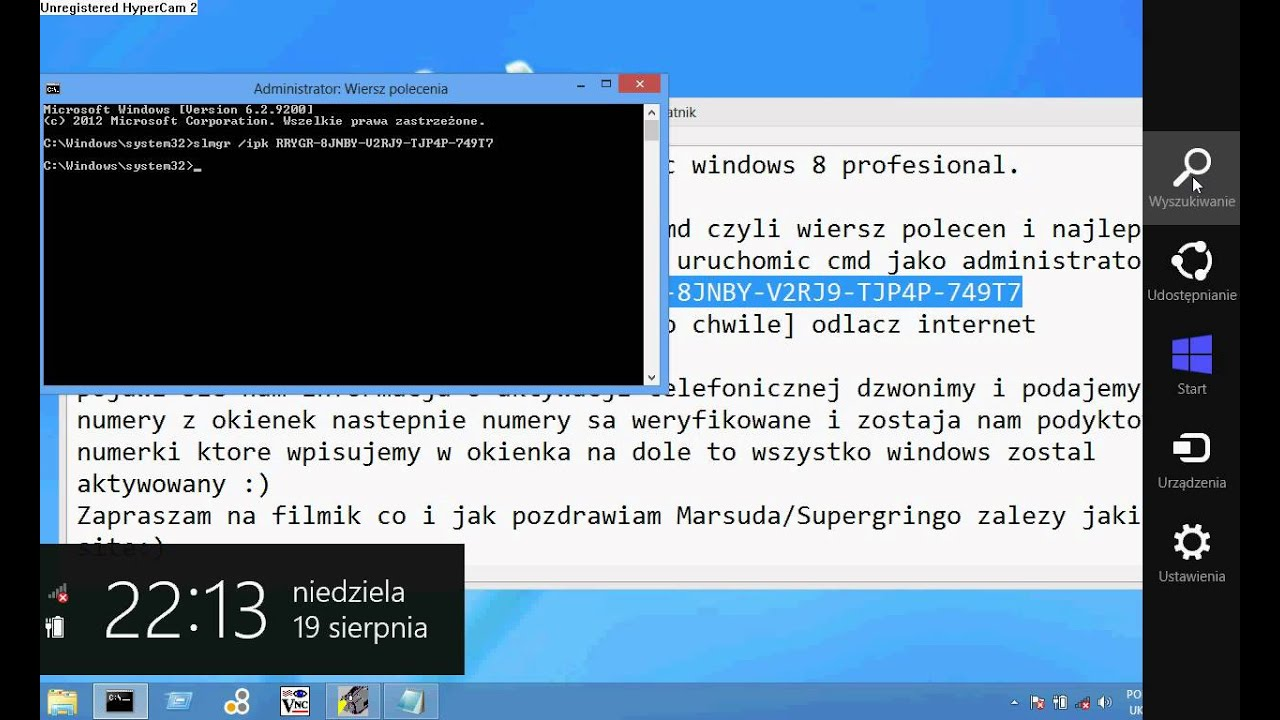 Windows 8 Aktywacja Youtube