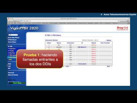 Vigor IPPBX 2820: Configuración DDIs en SIP trunks