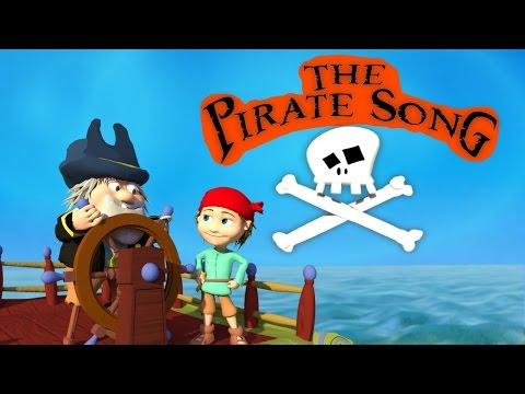 THE PIRATE SONG (When I was one) 3D Animation for children With Lyrics - HD KidsSongs - DizzyMoonTV