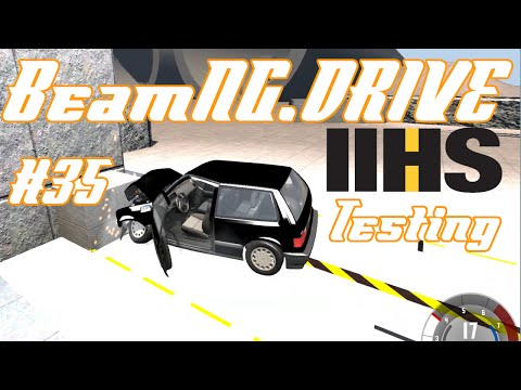 IIHS Safety Crash: Moderate Overlap Test   BeamNG.DRIVE #35